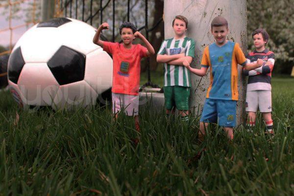 3D-Figur-Fussball